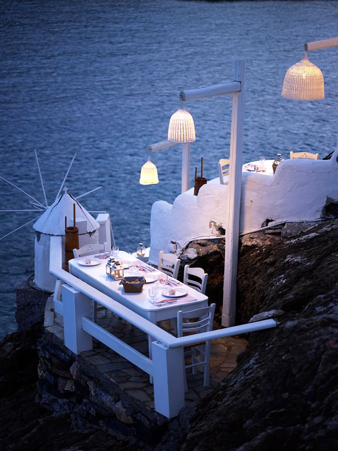 """Plori"" restaurant in Pylaia Hotel, Astypalaia island http://www.pylaiahotel.gr/"