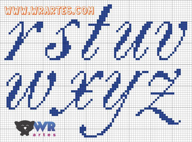 Letras+REQUINTADAS+minúsculas+para+PONTO+CRUZ+(2).png (1600×1185)