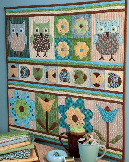Free patterns for owl quilts.