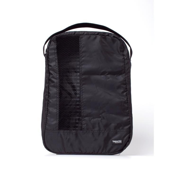 Lapoche/シューズバッグ ブラック 2310yen トラベル用やジム用の靴入れ