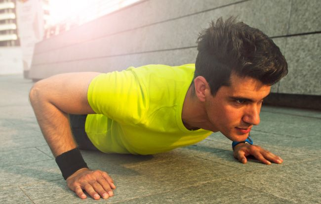 You can do pushups the way everyone else does them—as fast as possible, up and down. Or you can do them with a dead stop at the bottom. The latter is more difficult, but it's a true test of strength. And it's the way Men's Health Fitness Director thinks every guy should do them.