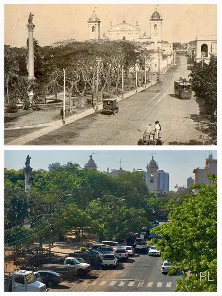 El Paraguayo Independiente desde la terraza del palacio Patri de Asunción-Paraguay
