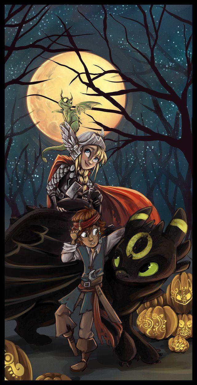 How to train your dragon - Halloween. Aww.