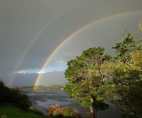 Sheen Falls view, @Greg-Helen Entzian Falls Lodge, Kenmare, Ireland via @Paul Johnson (aluxurytravelblog.com)