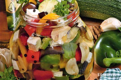 Zöldségek olasz módra, olívaolajban - Vidék Íze