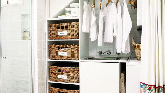 Storage tips for the laundry and bathroom