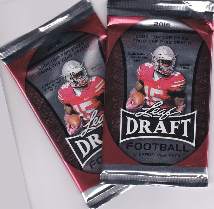 2016 Leaf Draft Football Top Picks 2 Pack Lot Unopened Free Shipping #Various