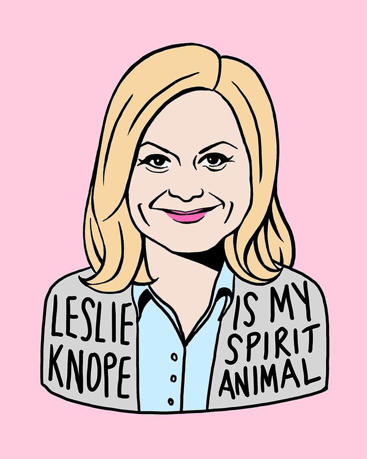 Leslie Knope art print                                                       …