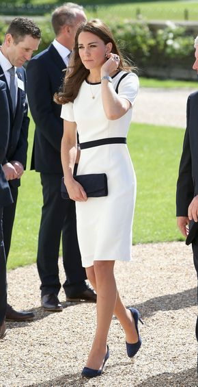 Kate Middleton in Jaeger at the National Maritime Museum for the America's Cup Launch. June 2014.