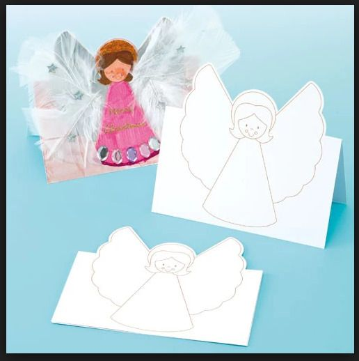 Angel pop up cards colour in - arts crafts kids activities