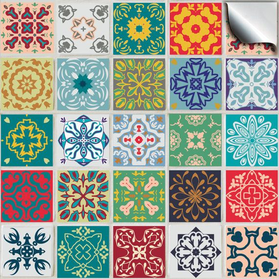 Pack of various traditional mosaic tile stickers --(TP 50)-- kitchen tile stickers / tile transfers – factory direct price,  no middleman