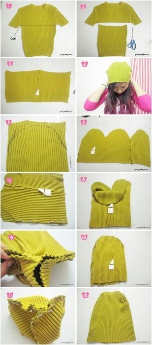 DIY beanie from old sweater