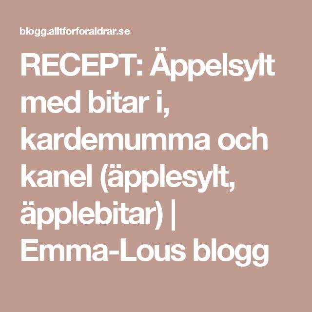 RECEPT: Äppelsylt med bitar i, kardemumma och kanel (äpplesylt, äpplebitar) | Emma-Lous blogg