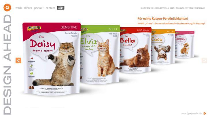 "Packaging Design ""It's me"" Trockennahrung Katze"