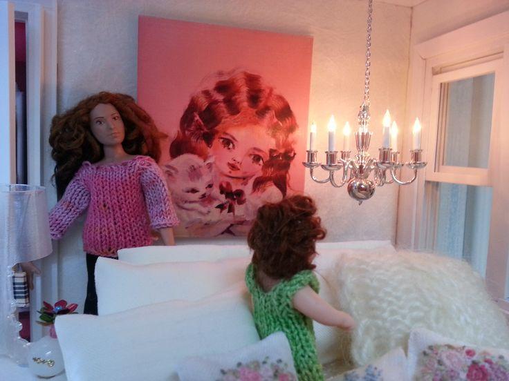 Rose in her bedroom, styled by Maija Pirinen