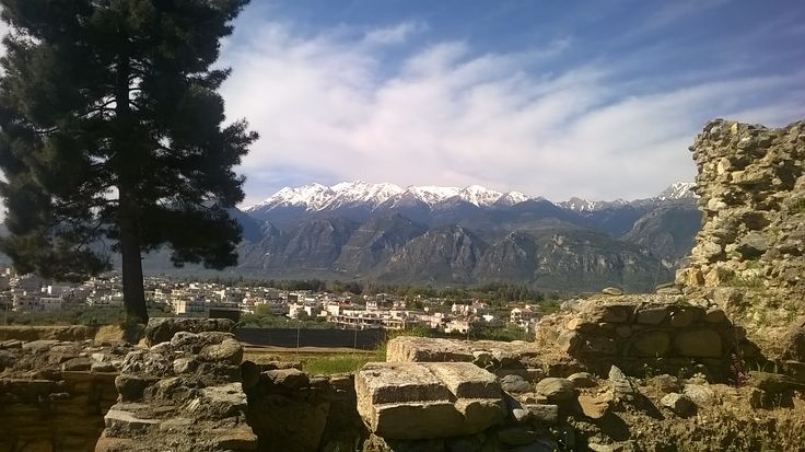The view of the Sparta city from the ruins of the ancient Sparta!
