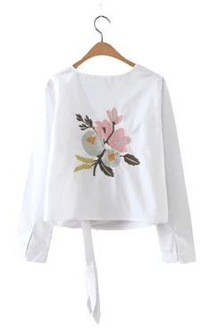 Specifications: Gender:Women Decoration:Embroidery Sleeve Length:Full Pattern Type:Floral Fabric Type:Oxford Style:Fashion Sleeve Style:Regular Material:Cotton Collar:O-Neck Clothing Length:Regular Co