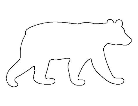 Black bear pattern. Use the printable outline for crafts, creating stencils, scrapbooking, and more. Free PDF template to download and print at http://patternuniverse.com/download/black-bear-pattern/