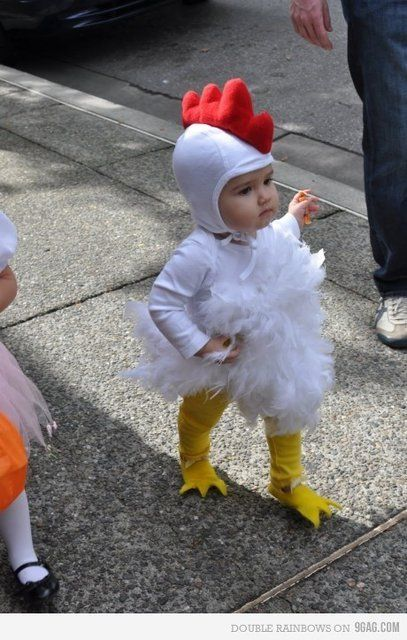what an adorable chicken costume!