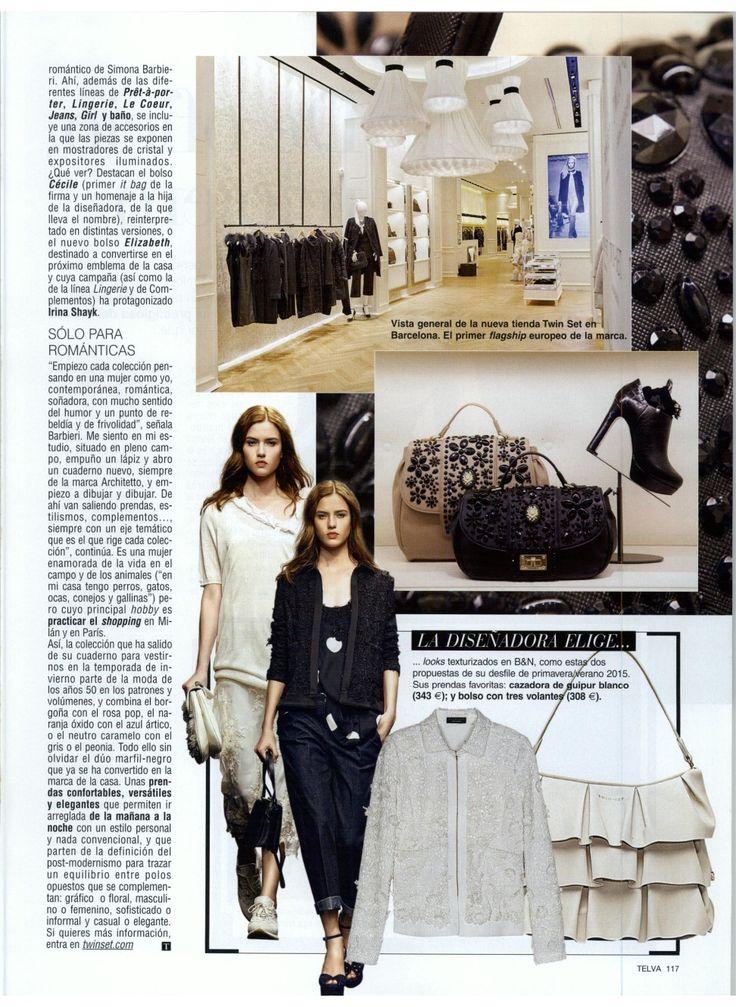 TWIN-SET Simona Barbieri. Magazine: Telva 01.02.2015