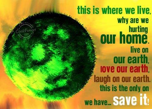 """GPSHRC Wishes -"""" Happy Earth Day"""", Earth is home to us we are responsible for it's care and to keep it healthy and clean so, that it can keep us healthy.  Basically Earth Day is an annual event, celebrated on April 22, on which day events worldwide are held to demonstrate support for environmental protection. It was first celebrated in 1970, and is now coordinated globally by the Earth Day Network, and celebrated in more than 192 countries each year."""