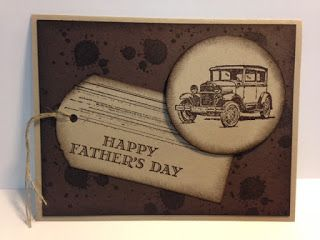 Guy Greetings, Father's Day Card, Masculine Card, Stampin' Up!, Rubber Stamping, Handmade Cards