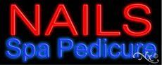 Nails Spa Pedicure Neon Sign (Glass Tubing)