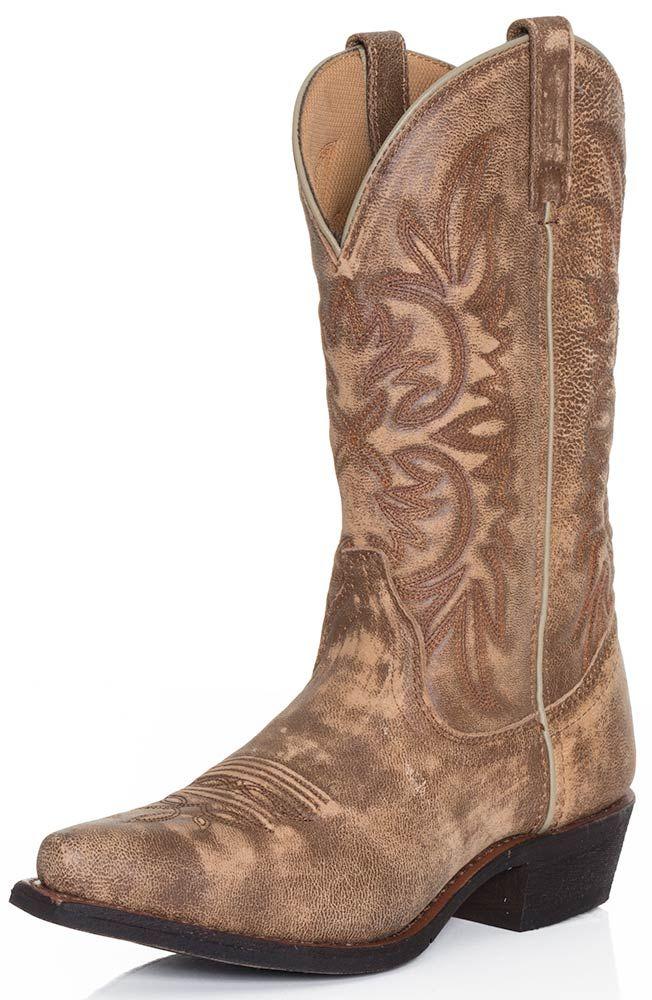 Dingo Womens Wyldwood Cowboy Boots - Tan Crackle $139.95