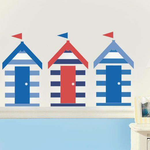 Beach hut stencil Nautical stencil nautical décor by IdealStencils