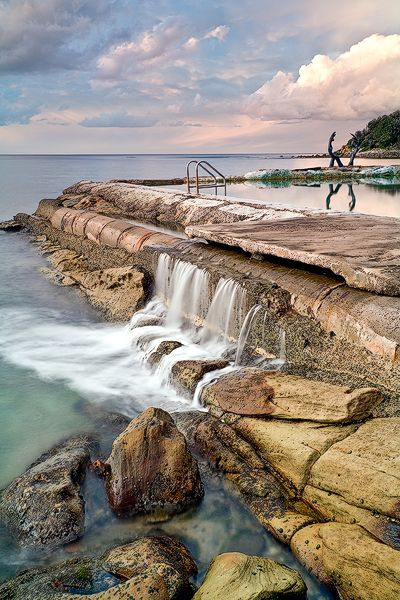 Fairy Bower Manly Northern Beaches Australia.  Cabbage Tree Bay, Manly, Sydney. Iconic to the area this stunning rock pool at Fairy Bower sits between Manly and Shelly beach.