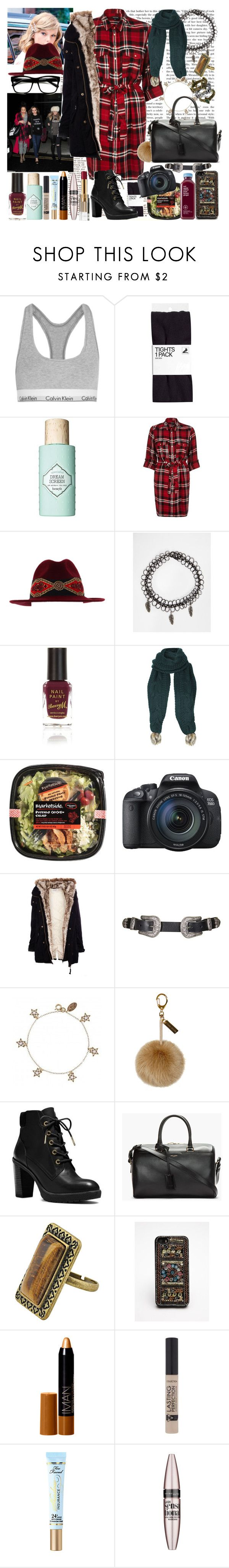 """""""DINNER NIGHT OUT WITH JERRIE AND LEIGH."""" by costina-raftu ❤ liked on Polyvore featuring Calvin Klein Underwear, Benefit, River Island, ASOS, Topshop, Pull&Bear, Cath Kidston, Helen Moore, Michael Kors and Yves Saint Laurent"""