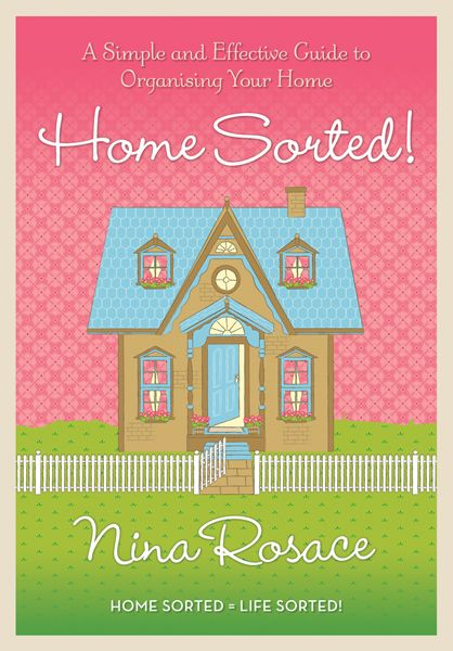 This is my Home Sorted! book. I have separated the book into room by room chapters and step-by-step tips.