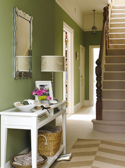 Love this green but don't know if it will look slightly Christmassy with the red floor tiles
