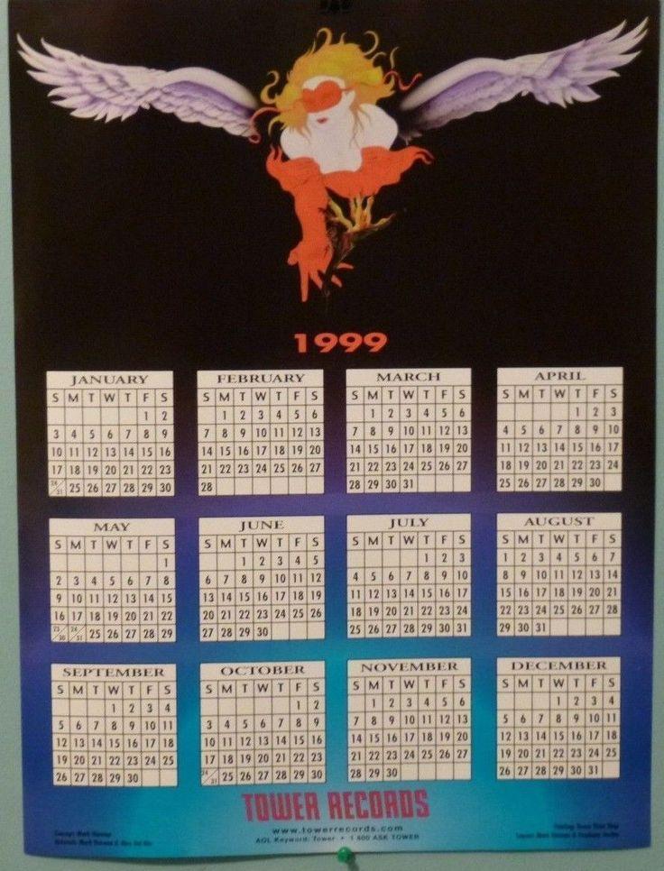 1999 Tower Records Calendar Poster Mark Harman Alex Del Rio Stephany Jordan | eBay