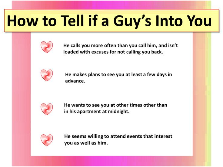 How to tell if a guy just wants a hookup
