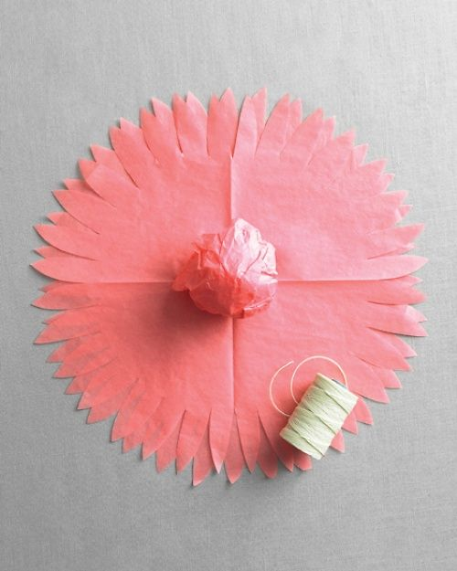 #1 DIY Paper Dahlia Flower ~ party decoration - From Martha Stewart Weddings Favors