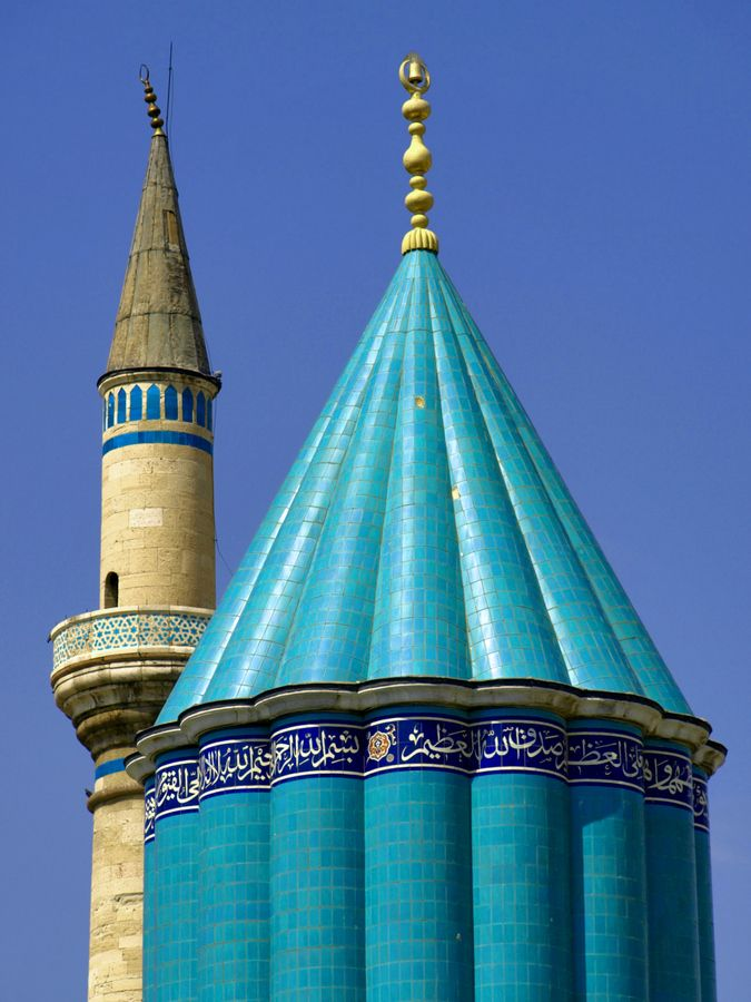 Shrine of Mevlana Rumi, Konya,Turkey> By Alika