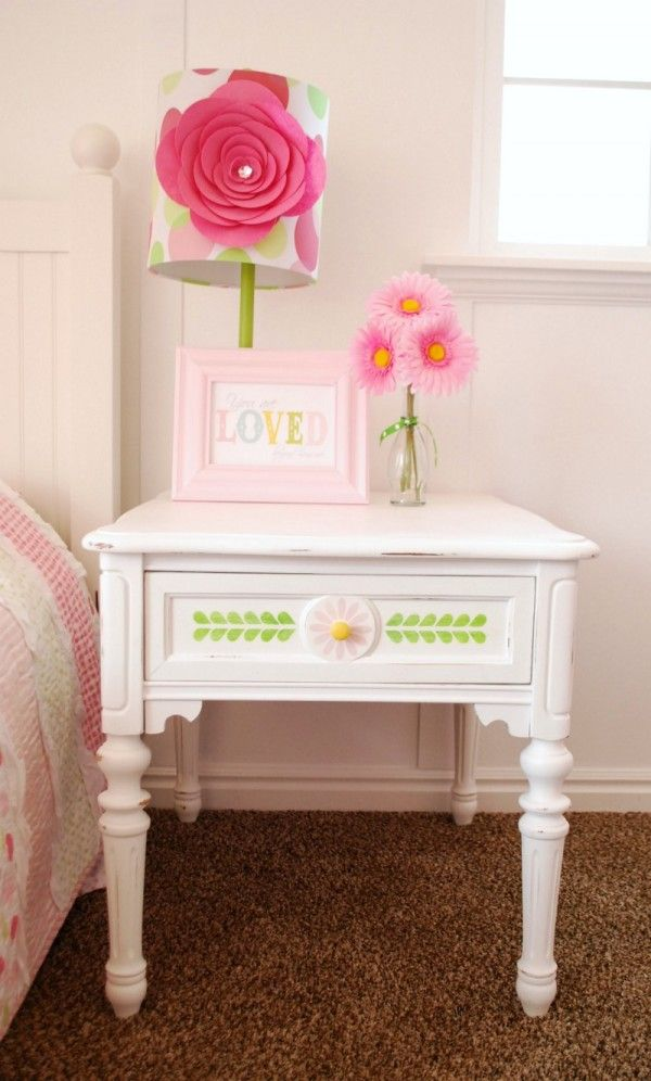Painted White Nightstand For A Little Girl S Room So Easy