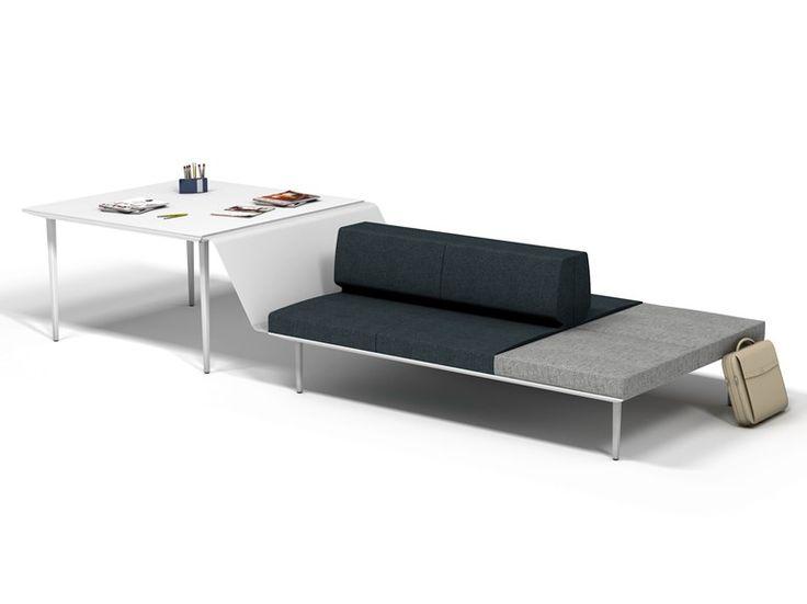 Table de réunion carrée Collection Longo by ACTIU | design Ramos