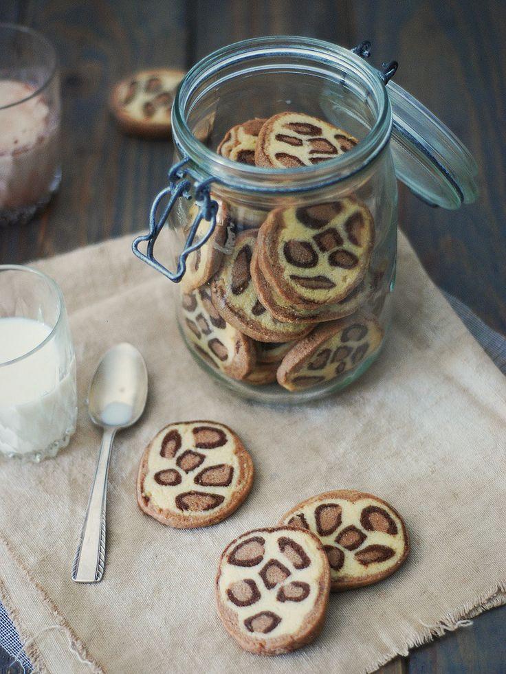 Sablés léopard recette de Confit Banane #cookies #léopard #biscuit #sablés