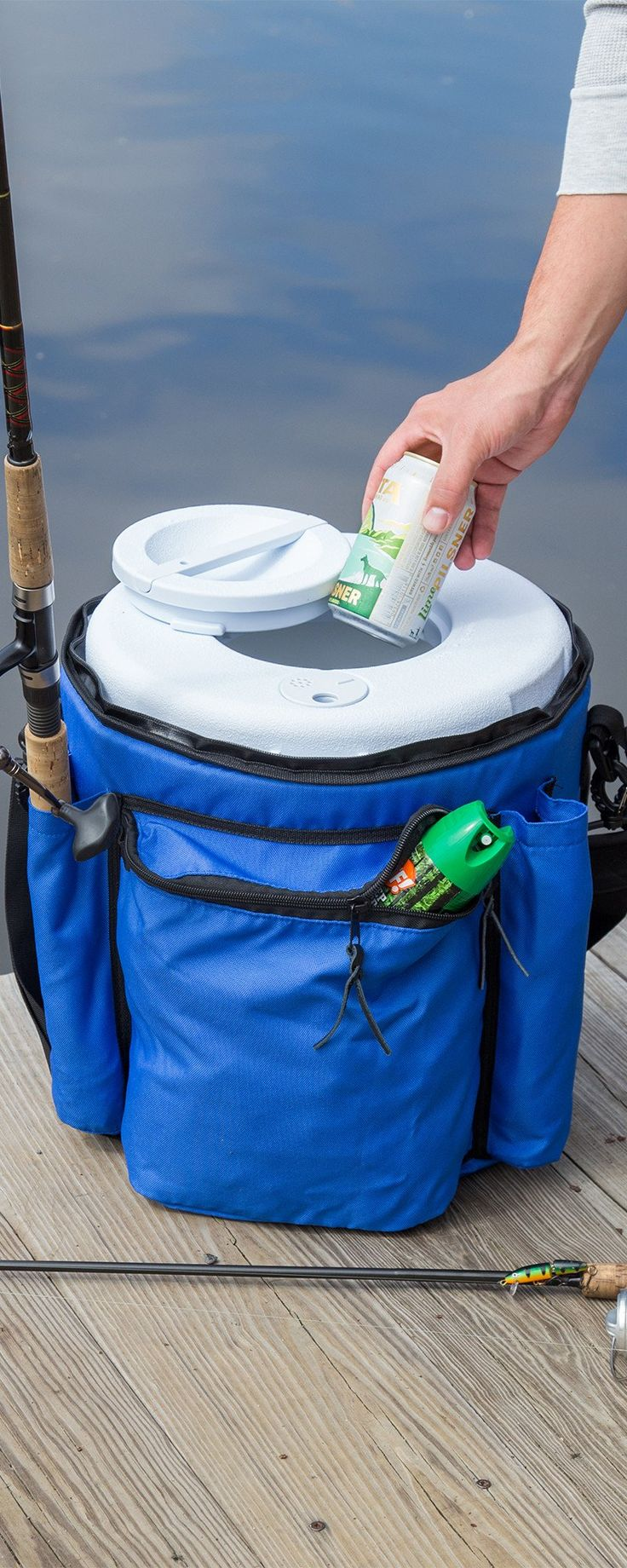 Boozie bucket insulated bucket cooler with lid with