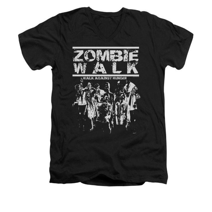 Zombie Walk Adult V-Neck T-Shirt