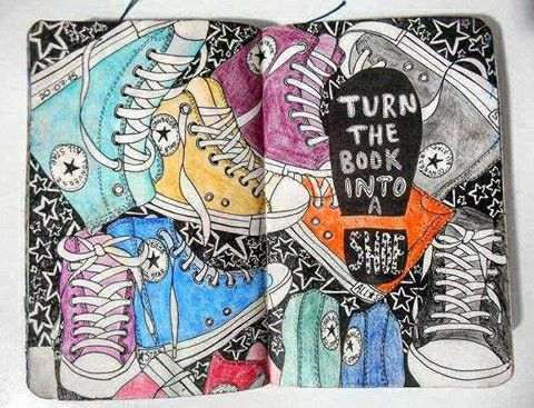 Turn the book into a show! Converse art! :)