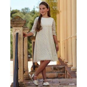 Vestido Comunión Clásico - Vestido corto