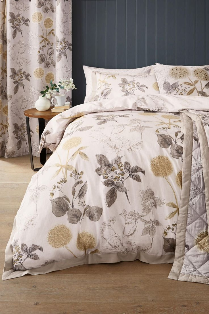 Buy Cotton Sateen Wild Hedgerow Natural Bed Set from the Next UK online shop