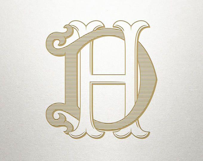 Antique Monogram Design Ks Sk Antique Monogram Digital Etsy Monogram Design Monogram Vintage Typography