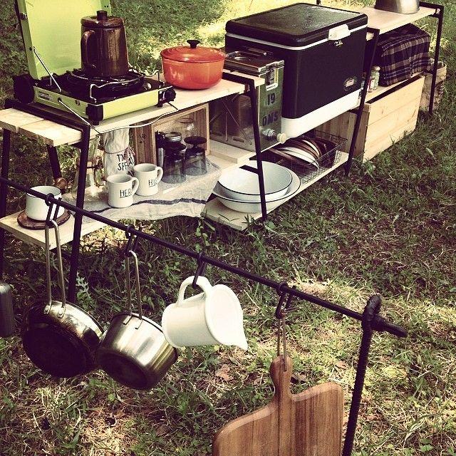 Camp kitchen setup