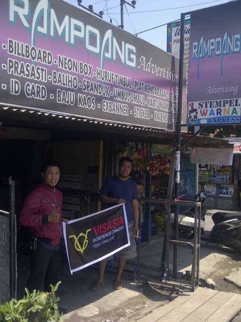 Visasia Entrepreneur Community - Rampoang Advertising Jl. Sungai Saddang Baru No. 6 Makassar, Sulsel Contact : 081355360744 ( Yasser )