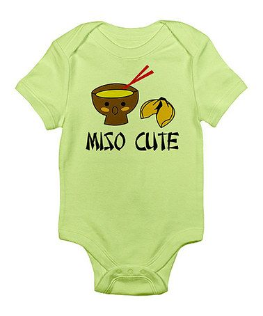 Take a look at this Kiwi 'Miso Cute' Bodysuit - Infant by CafePress on #zulily today!