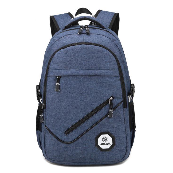 Hot 2017 Brand External USB Charge Backpack Male Mochila Escolar Laptop Backpack men women School Bags Backpack  #Affiliate